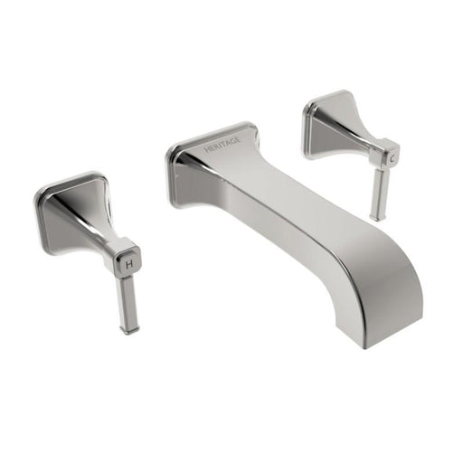 Heritage Somersby Wall Mounted Bath Filler Chrome
