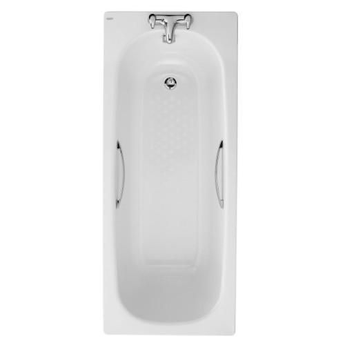 Twyford Celtic Slip Resistant Steel Bath With Grips And Legs - 1500mm x 700mm - 1 Tap Hole - White