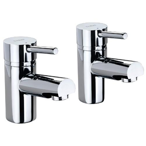 Twyford X60 Bath Pillar Taps - Pair -Chrome