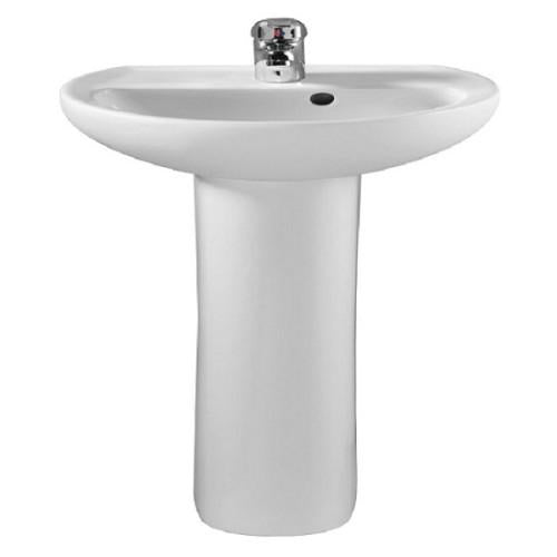 Twyford Alcona Basin With Full Pedestal - White