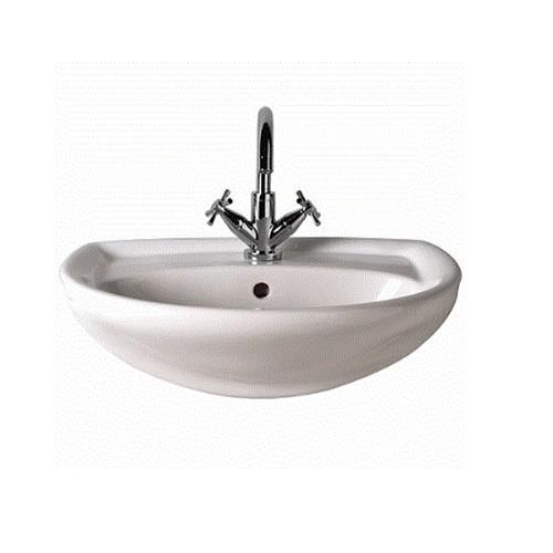 Twyford Galerie Semi-Recessed Basin - White