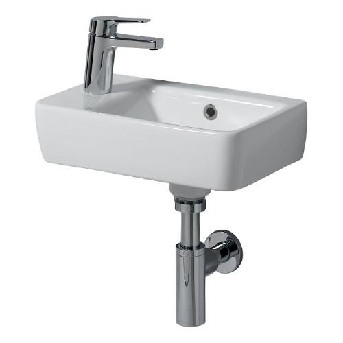 Twyford E200 Wall Hung Basin - 400mm Wide - White