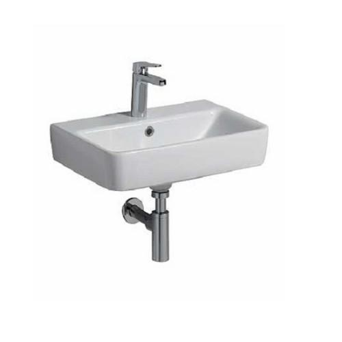 Twyford E200 Rectangular Wall Hung Basin - White
