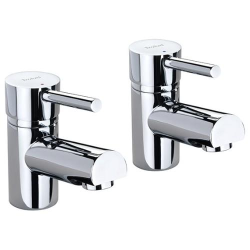 Twyford X60 Basin Pillar Taps - Pair - Chrome