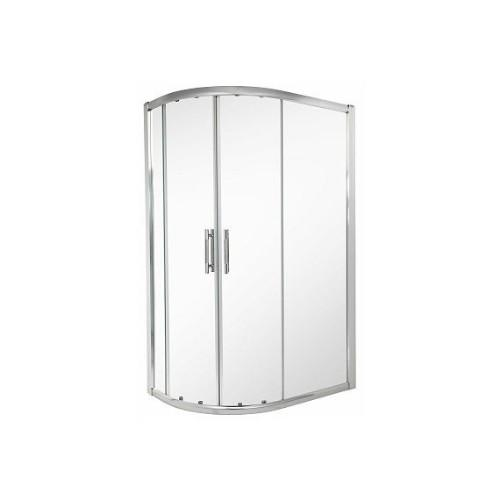 Twyfords ES400 Offset Quadrant Sliding Shower Enclosure - 6mm Glass
