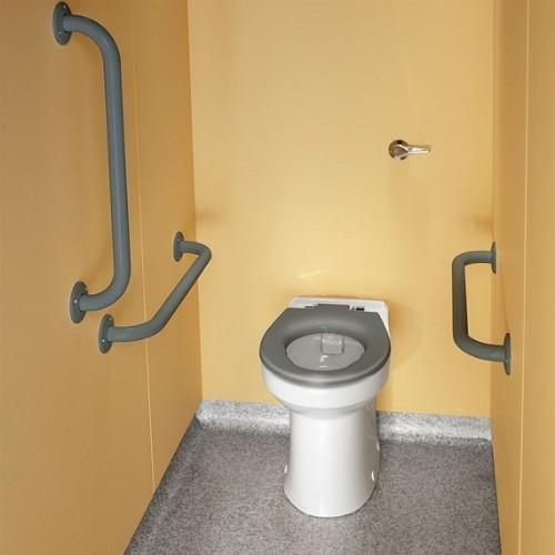 Twyford Doc.M Rimfree Back To Wall Disabled Toilet Ambulant Pack - Right Handed  - Grey