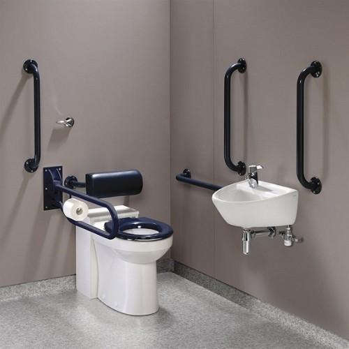 Twyford Doc.M Rimfree Back To Wall Disabled Toilet Pack