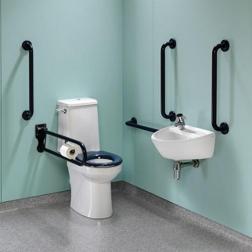 Twyford Doc.M Rimfree Close Coupled Disabled Toilet Super Pack