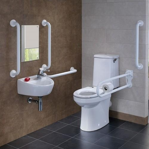 Twyford Doc M Rimfree Close Coupled Disabled Toilet Super Pack