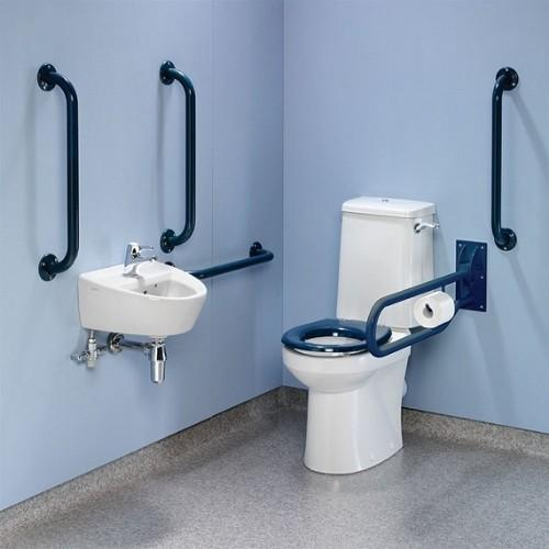 Twyford Doc.M Rimfree Close Coupled Disabled Toilet Value Pack