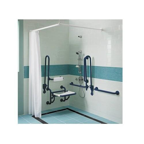 Twyford Doc M Shower Pack With Grab Rails And Seat