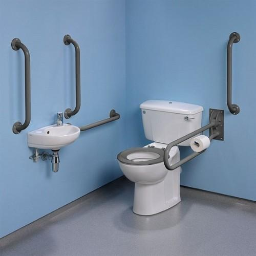 Twyford Doc.M Standard Rimfree Close Coupled Disabled Toilet Value Pack