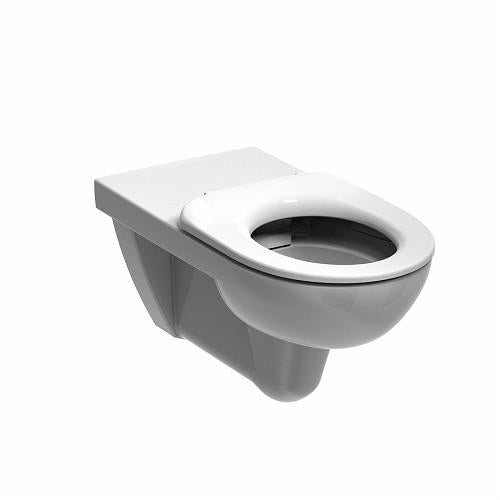 Tremendous Twyford E100 Round Rimfree Deep Wall Hung Toilet And Soft Close Toilet Seat White Gmtry Best Dining Table And Chair Ideas Images Gmtryco