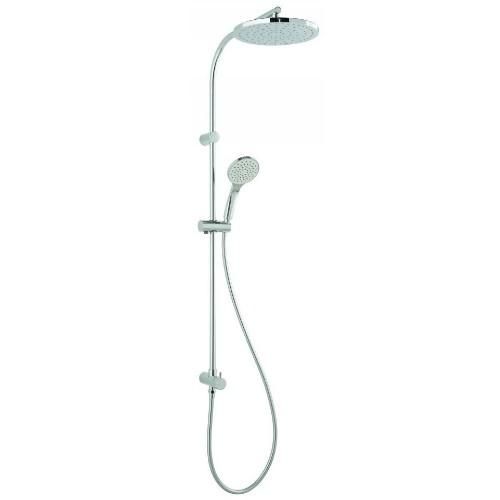 Vado Rigid Riser Kit with Overhead Shower, Single Function Handset & Diverter