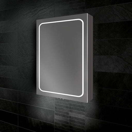 HiB Vapor Aluminium 1 Door Steam Mirror Cabinet