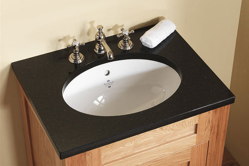 Silverdale Victorian White Undermount Vanity Basin - 0 Tap Hole
