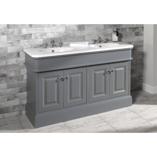 Silverdale Victorian Grey Cabinet with Basin and worktop