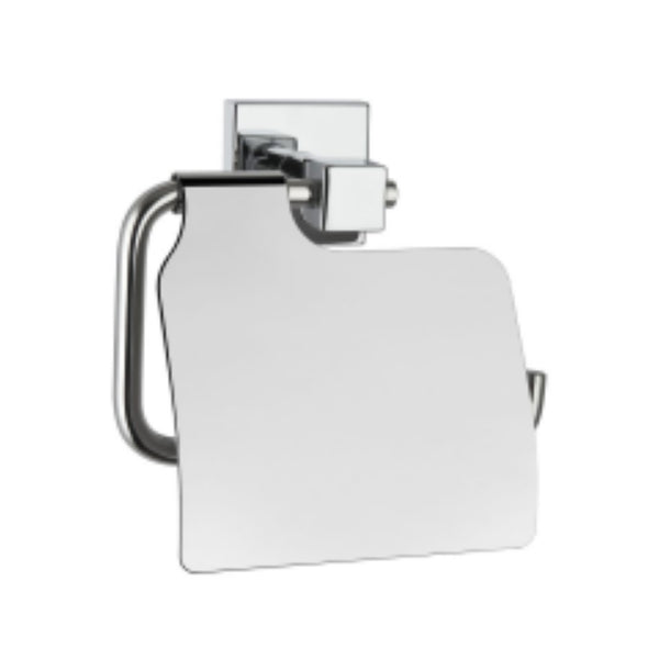 Vitra Q-Line Toilet Roll Holder with Cover 14.3 x 13.8h x 6.6cm