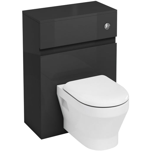 Aqua Cabinets Fitted WC Unit with Flush Button for Wall Hung WC