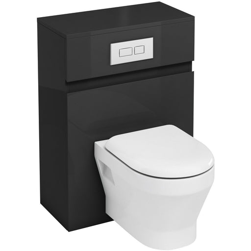 Aqua Cabinets Fitted WC Unit with Flush Plate for Wall Hung WC
