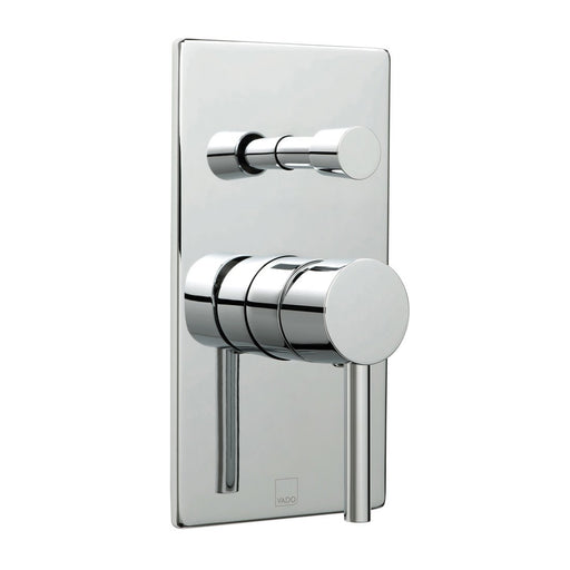 Vado Zoo Square Back Plate Concealed Single Lever Manual Shower Valve With Diverter