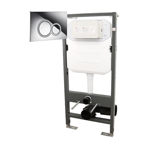 Abacus Essentials WC Frame With Dual Flush Cistern And ISO Press Panel - White