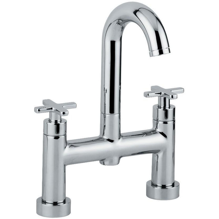 Abode Serenitie Deck Mounted Bath Filler - Chrome