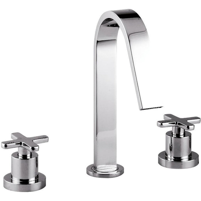 Abode Serenitie 3 Hole Basin Mixer with Clicker Waste - Chrome