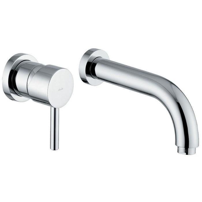 Abode Harmonie Wall Mounted 2 Hole Bath Filler - Chrome