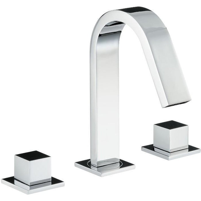 Abode Zeal 3 Hole Bath Filler - Chrome