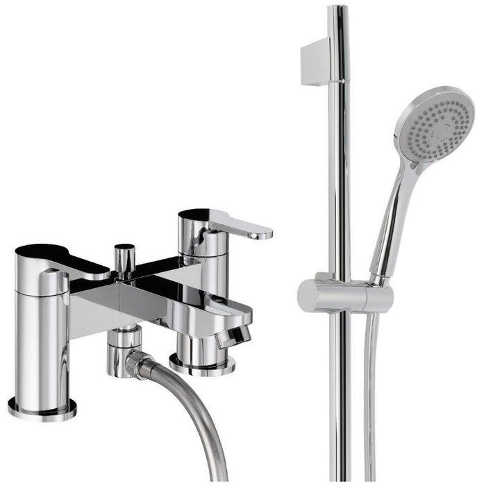 Abode Debut  Deluxe Bath Shower Mixer with Kit - Chrome