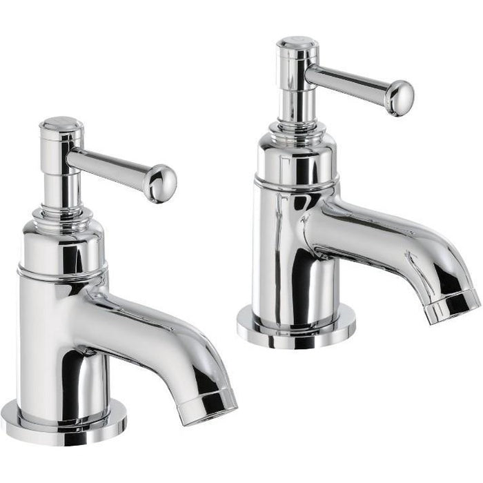 Abode Gallant Basin Pillar Taps - Chrome