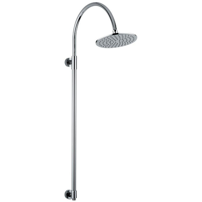 Abode Exposed Rigid Riser with 200mm Showerhead - Chrome