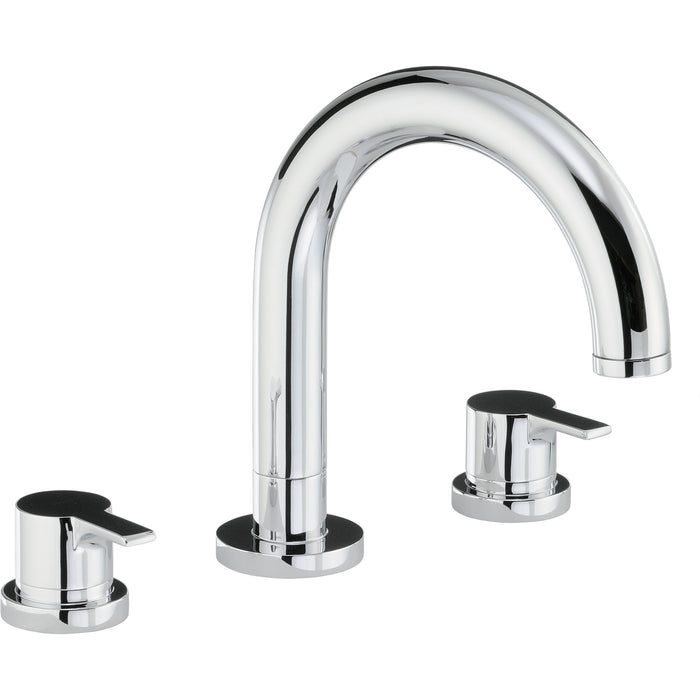 Abode Desire Thermostatic 3 Hole Bath Filler - Chrome