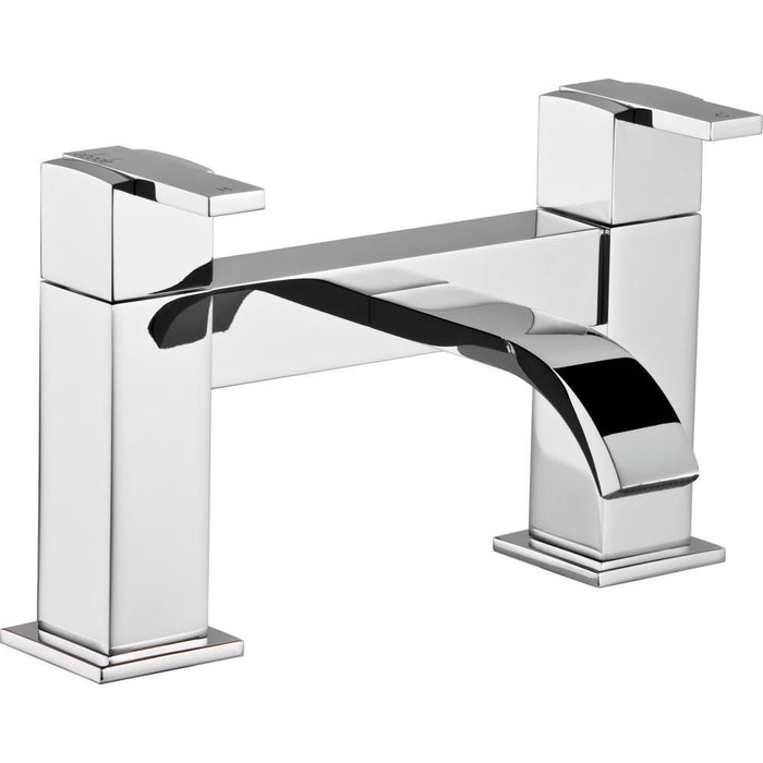 Abode ISO Deck Mounted Bath Filler - Chrome