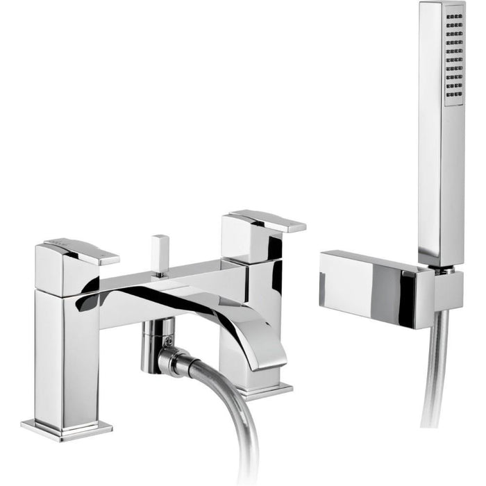 Abode ISO Deck Mounted Bath Shower Mixer with Shower Handset - Chrome