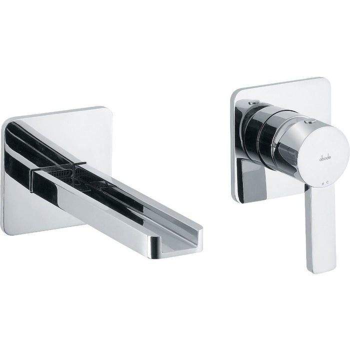 Abode Modo Wall Mounted 2 Hole Bath Filler - Chrome