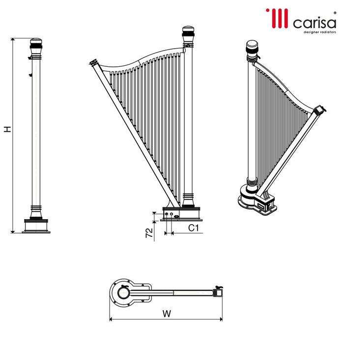 Carisa Adagio Stainless Steel Vertical Radiator