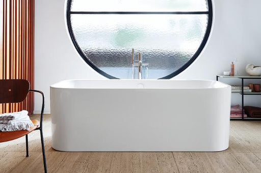 Duravit Happy D.2 Plus Back-to-wal 1800mm Bathtub with 2 backrest - White