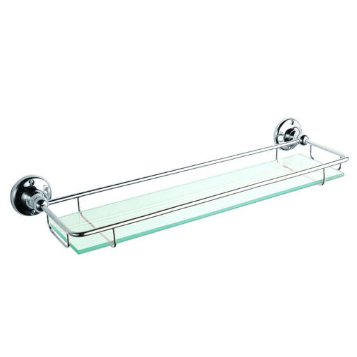 Bayswater Glass Gallery Shelf  - Chrome