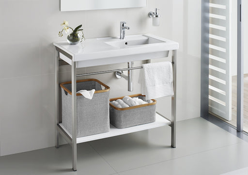 Roca Prisma Wash Stand With Basin - Chrome