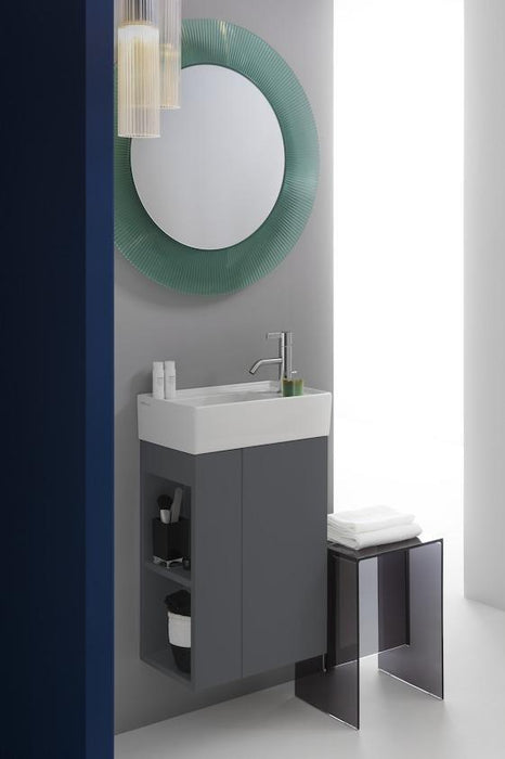 Laufen KARTELL Small Basin Asym One tap hole with concealed waste