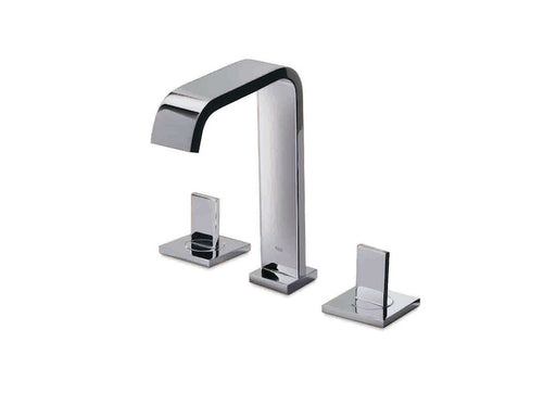 Roca Flat Deck-mounted 3 Hole basin mixer with pop-up waste