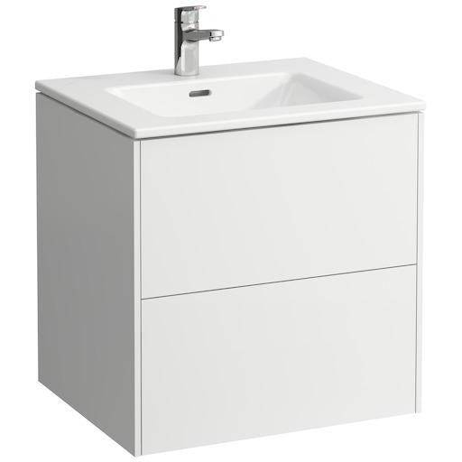 Laufen Pro S 60cm vanity unit with 2 drawers, incl. drawer organiser and Slim Basin
