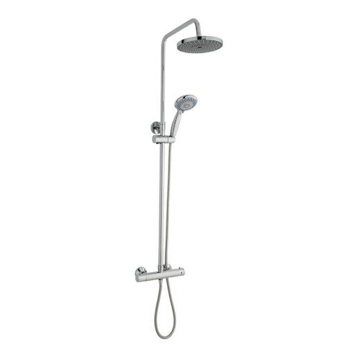 Kartell Plan Thermostatic Bar Shower With Ultra Slim Stainless Shower Drencher and Sliding Handset