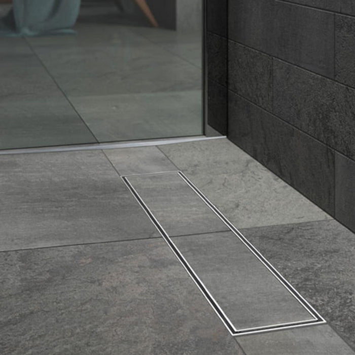Kudos Floor4ma Wetroom Shower Base with Linear Drain for Tiling