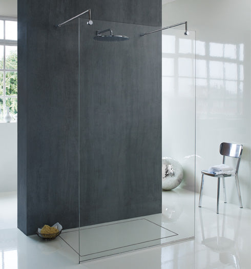 Majestic Frameless Oslo Bespoke Walk In Panel Glass Shower Enclosures