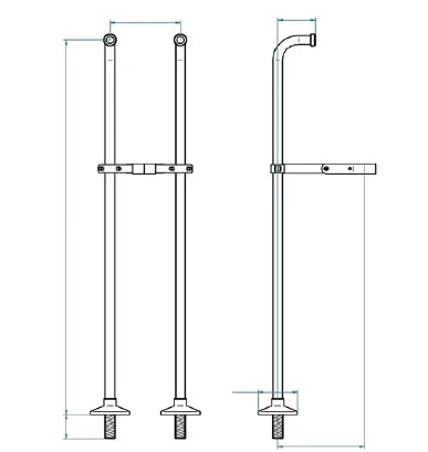 Imperial Traditional Floor Mounted Stand Pipes