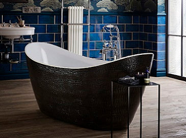 Heritage Alderley Double Ended Croc Skin Effect Freestanding Acrylic Bath