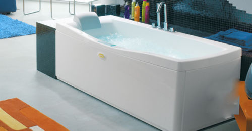 Jacuzzi Rivela 1700 x 750 Single Ended Bath Left Hand Headrest With Whirlpool System